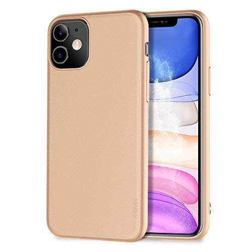 X-level für iPhone 11 Hülle, [Guardian Serie] Soft Flex TPU Hülle Superdünn Handyhülle Silikon Bumper Cover Schutz Tasche Schale Schutzhülle Kompatibel mit iPhone 11 6,1 Zoll - Gold