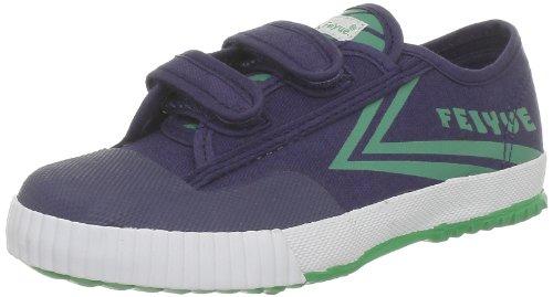 FEIYUE Lo Chaussures Basses En Toile Baskets Velcro Sneakers Pour Enfant Bleu Bleu 31