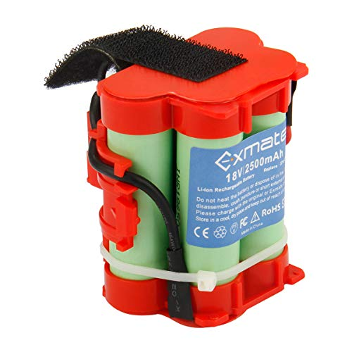 Exmate 18V 2500mAh Akku passend für Gardena R38Li, R40Li, R45Li, R50Li, R70Li, R75Li, R80Li, 124562 Mähroboter Rasenroboter Batterie