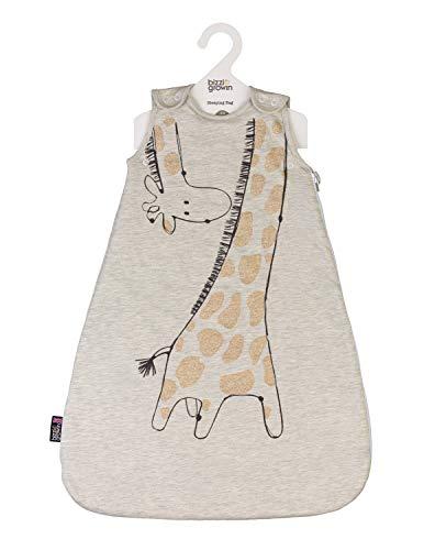 Baby-Schlafsack, Jersey, Giraffe, 2,5 Tog, 0-6 Monate, Beige