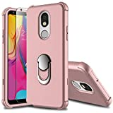 Leptech for LG Stylo 5 Case with Soft TPU Screen Protector, Ring Holder Kickstand Series Compatible with LG Stylo 5/LG Stylo 5V Case (Pink)