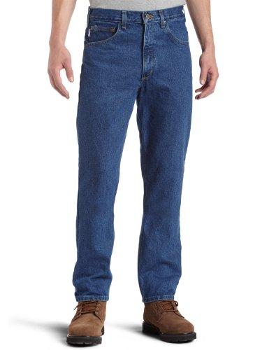 Carhartt Men's Five Pocket Tapered Leg Jean, Dark Stone, 34W X 34L
