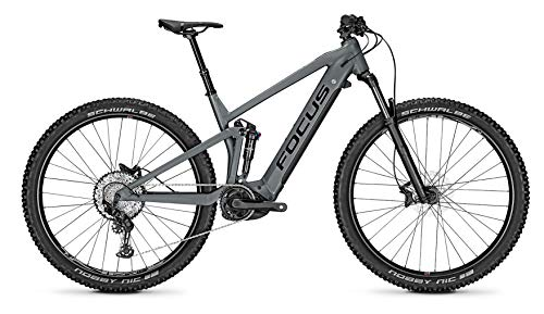 Focus Thron² 6.8 Bosch Trail & Touren Fullsuspension Elektro Mountain Bike 2020 (M/44cm, Slate Grey)