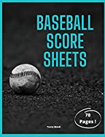 Baseball Score Sheets: This scorebook comes with clean, easy-to-follow lineup sheets that you can use to keep track of lineups, stats, scores and more for 70 games, 8.5 x 11.0