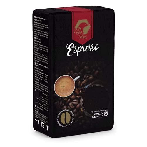 Beo Hive Café Molido, Café Molido Espresso Crema Gourmet, 250 g, Aromático y de Tueste Natural, Café Molido Espresso, Sabor Intenso y Cremoso, Café Seleccionado