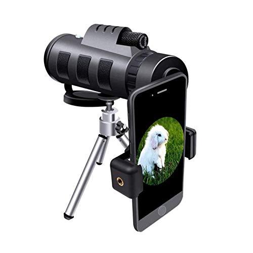 FSFF Monocular Starscope Telescope, 40 & mal; 60 Hochleistungsmonokulare mit Smartphone-Halter und Stativ können für die Vogelbeobachtung auf dem Jagdcamping verwendet Werden