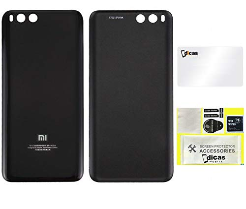 DICAS MOBILE Tapa Trasera de Repuesto Compatible con Xiaomi Mi 6 Carcasa Cubre Bateria Back Cover (Negro)
