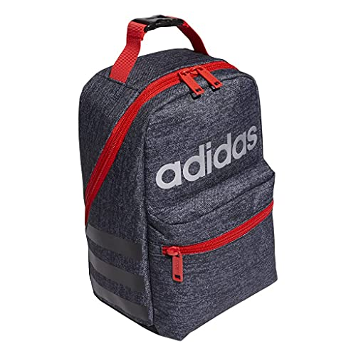 adidas Santiago II Insulated Lunch Bag,Black/Black/Red