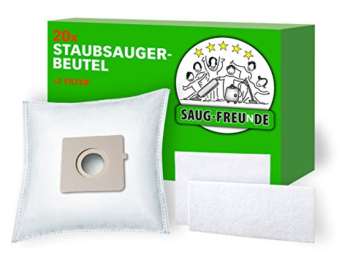 SAUG-FREUnDE | 20 Staubsaugerbeutel kompatibel zu ALDI QUIGG EI 110, EI110, QU 110, QU 101, EO 101, EO101 und LIDL Aquapur, W5, EO 800, EO800