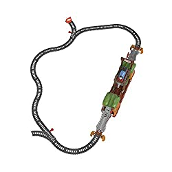 Thomas and Friends train set featuring a motorized Sodor Walking Bridge, just like the one in the show When the motorized Thomas engine rolls onto the Walking Bridge, the bridge walks the train to the other side Kid conductors can open hidden trap ...