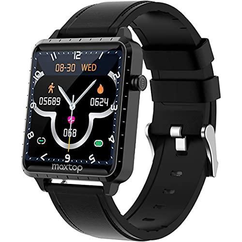 Smartwatch Hombre Reloj Inteligente Mujer 1.54 Smart Watch Impermeable IP68 con Monitor de...