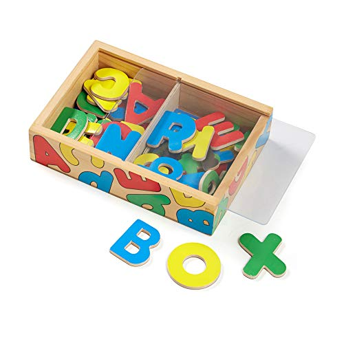 Melissa & Doug 52 Wooden Alphabet Magnets in a Box - Uppercase and Lowercase...