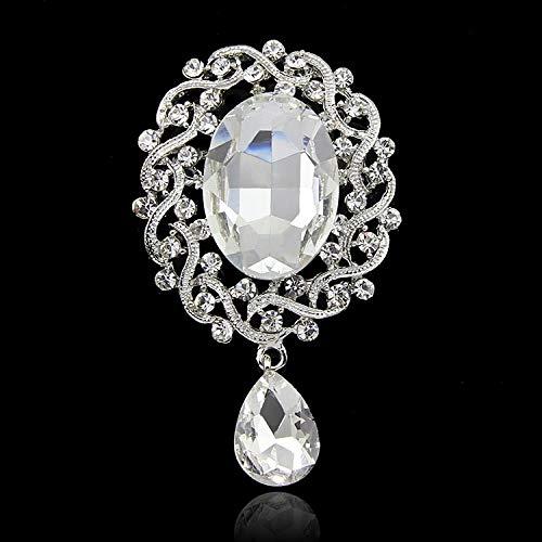 SZNYD Europäische und amerikanische Mode Diamant Strickjacke Brosche Brosche Hemdnadel