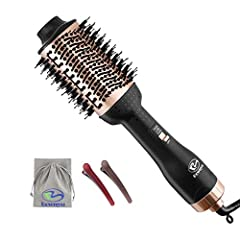 【3-IN-1 One-Step Hair Dryer and Styler Volumizer】 Hair dryer brush is perfect combination of hair dryer, hair curler, and hair straightener, which suitable for All Hair Type Style ,You can blow-dry hair and make your hair curly or straight at same ti...