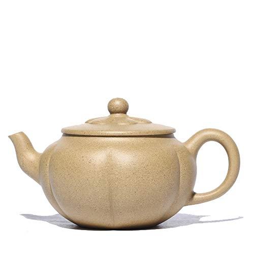 Xiang Ye Artesanos Hechos a Mano Yixing Tetera de Barro Mineral segmento de sésamo Tetera de té de pétalos (Color : Sesame Section mud)