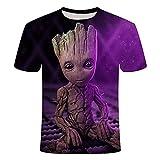 YJXDBABY-Groot-Camiseta Unisex De Manga Corta Estampada En 3D,Camisetas De...