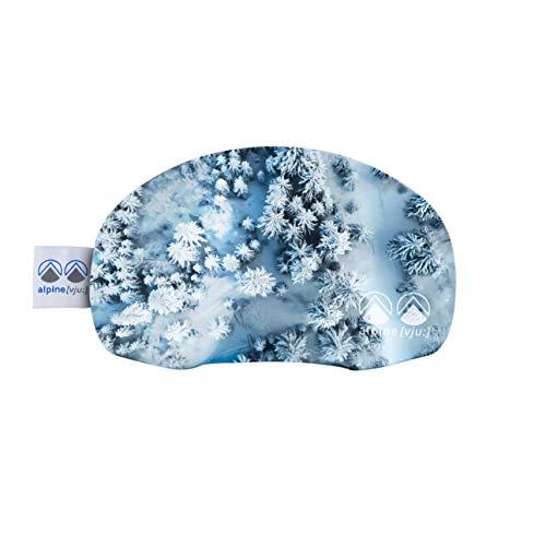 alpine [vju:] - Skibrillen Schutz | Goggle Schutz Cover | elastisch aus Mikrofaser | Unisex (Luftbild Winter Wald)