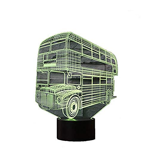 Baby Spielzeug 3D Lamp USB Power 16 Colors Amazing Optical Illusion 3D Grow LED Lamp Bus Shapes Kids Bedroom Night Light