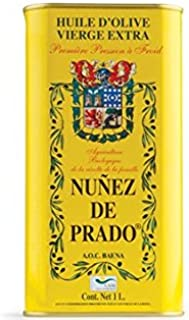 Nunez de Prado Organic Extra Virgin Olive Oil - 1 Liter (Pack of 2)