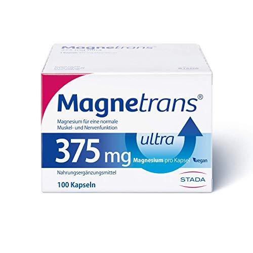 Magnetrans ultra 375 mg Kapseln - Magnesiumkapseln für eine normale Muskel- und Nervenfunktion - 100 Kapseln, 118 g