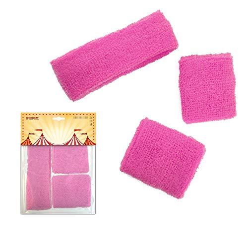 PARTY DISCOUNT ® Stirnband und Schweißband, Pink
