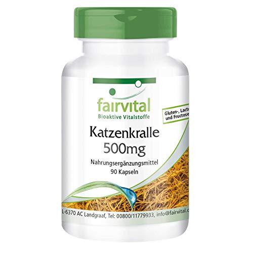 Katzenkralle Kapseln - Cat's Claw 500mg - Uña de Gato (Uncaria tomentosa) - HOCHDOSIERT & Vegan - 90 Kapseln