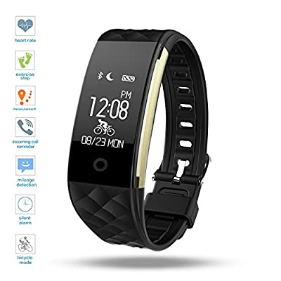 DENISY Fitness Tracker, Heart Rate Monitors Activity Trackers Sport Smart Wristband for iOS and Android.