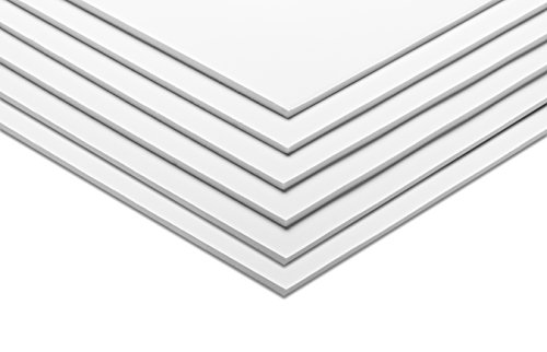 "AdirOffice Foam Board 5mm Sheets (16"" x 20"" - 6 Pack, White)"