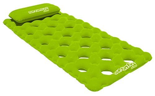 SUN COMFORT COOL SUEDE Pool Mattress, Lime
