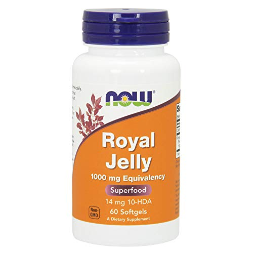 NOW Foods La Jalea Real, 1000 Mg De Equivalencia 60 Unidades 110 g