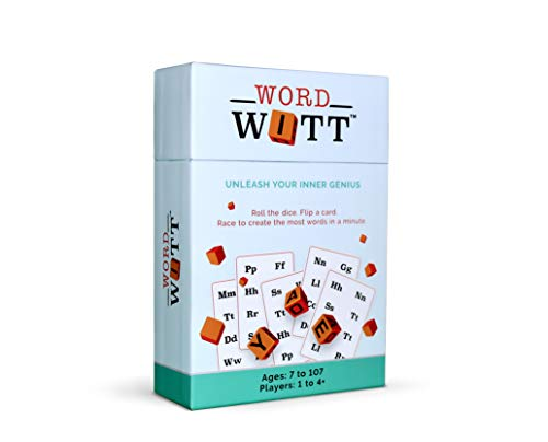 Word Witt: The Fast, Fun Dice Game for The Entire Family | Roll The Dice. Flip a Card. Race to Create The Most Words in a Minute | Build Phonemic Awareness, Spelling, Word Recognition & Vocabulary