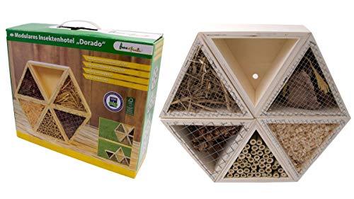 Willys Fachmarkt Insektenhotel Dorado Insektenhaus Nisthilfe mit modularer Bauweise für Insekten Wildbienen