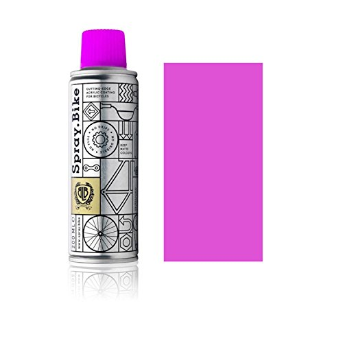 SPRAY.BIKE Fahrrad Lackspray - für detailreiche Arbeiten wie Linien, Schablonen oder kleine Bereiche - Pocket SOLID Kollektion in der praktischen 200ml Dose (Neon Magenta)