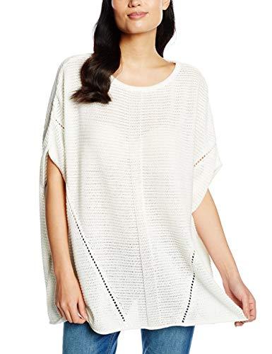 s.Oliver Damen 14.603.67.5751 Poncho, Weiß (White 0220), 34 (Herstellergröße: XS)