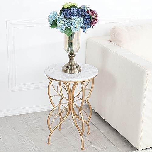 Bureau DD marmer aanrecht tafel, smeedijzeren beugel/bank nachtkastje vlinder vorm kleine salontafel voor woonkamers, lounges, studie/goud -werkbank