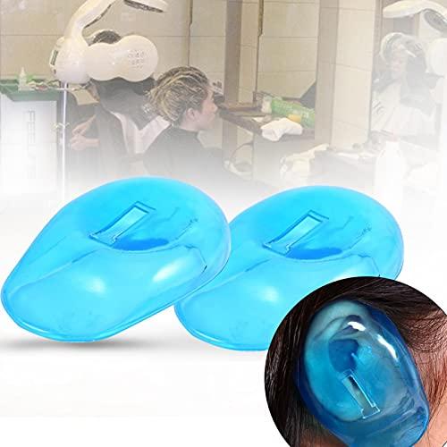 2 uds, Protector de oreja, protector de calor, protector de calor, tinte de pelo de planchado plano, plástico reutilizable, tapas de orejas impermeables para salón, ducha en casa, baño