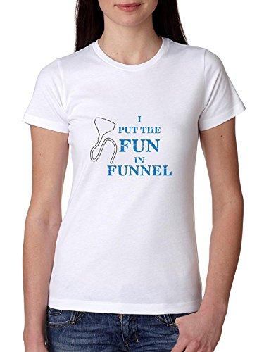 ik zet de leuk in trechter - bier bong ontwerp vrouwen katoen T-Shirt