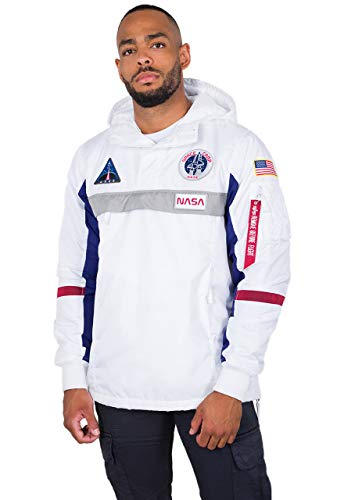 ALPHA INDUSTRIES Herren Space Camp Windbreaker weiß M