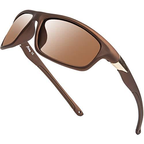 Gafas de sol deportivas polarizadas largas para hombre, conducción, pesca, correr, ciclismo, 100% protección UV