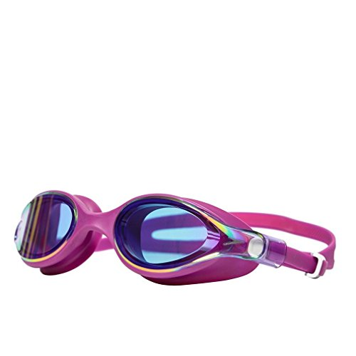 Speedo Damen Virtue Mirror Female Goggles, Purple Vibe/Pink, One Size