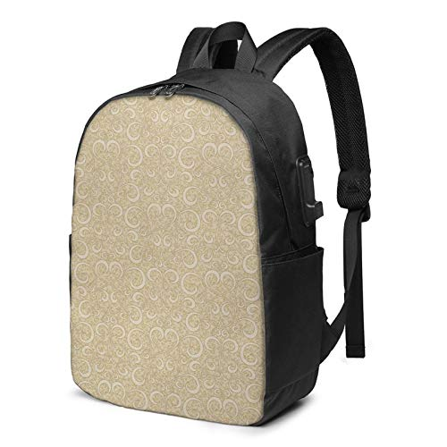 Laptop Backpack with USB Port Ivory 28, Business Travel Bag, College School Computer Rucksack Bag for Men Women 17 Inch Laptop Notebook