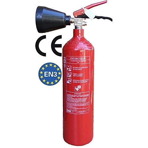 CO2 Feuerlöscher, Kapazität 2 kg, mit Halterung, CE-Norm