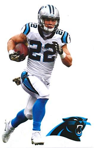 Christian McCaffrey Mini FATHEAD Carolina Panthers Logo Official Vinyl Wall Graphics 7' INCH