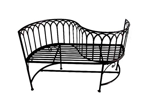 Jardinion Gartenbank, Sitzbank, geschwungene Lehne, Metall Edel, Baum Englischer Garten, Design Möbel