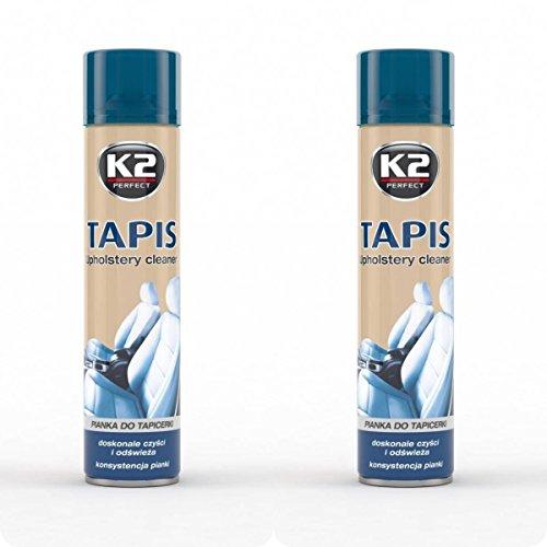 K2 Tapis – Reinigungsspray für Polster und Gewebe, sehr effektiv, Fleckenentferner, Sprühdose 600 ml