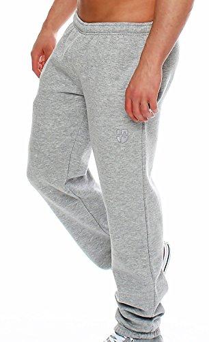 Gennadi Hoppe Herren Sporthose Trainingshose Jogginghose Pants Sweatpants,hellgrau,Large