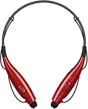 iLive Bluetooth Neckband Earbuds, Include 3 Sets of Ear Tips and Micro-USB to USB Cable, Red (IAEB18R)