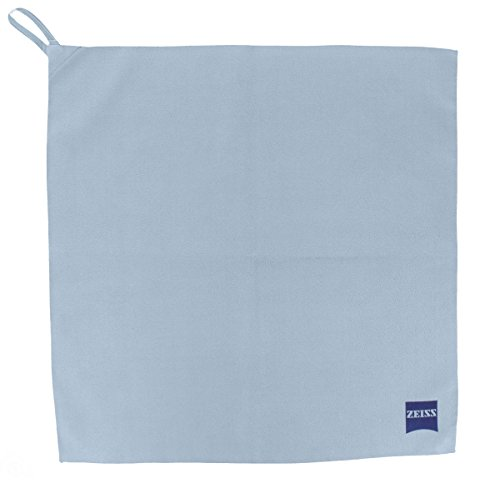 Zeiss Optical Cleaning Cloth for Glasses Cloth Microfiber (37x37 cm) with Hooks