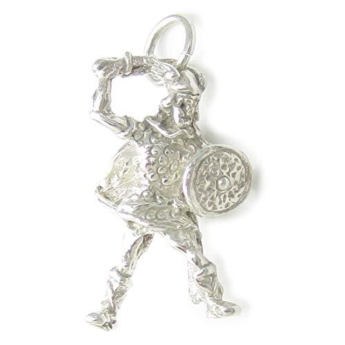 Abalorio de plata de ley 925 x 1 vikingos de combate de guerrero vikingo, SFP