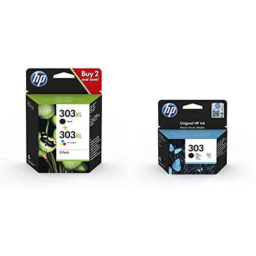 HP 303Xl Combopack 3Yn10Ae Cartucce Originali Ad Alta Capacità Da 1015 Pagine In Totale & 303 T6N02Ae Cartuccia Originale Compatibile Con Le Stampanti A Getto D'Inchiostro